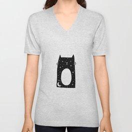 Night Kitty Unisex V-Neck