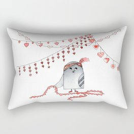 Valentine Pigeon Rectangular Pillow