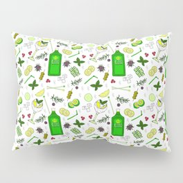 Colourful Gin Drinker Cocktail Bar Pattern Pillow Sham