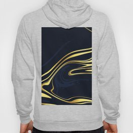 Dark Blue And Gold Marble Background Hoody