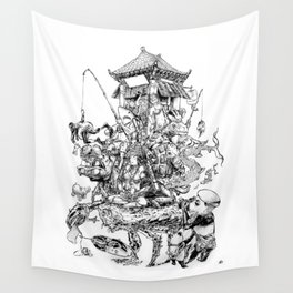 the chinese parade Wall Tapestry
