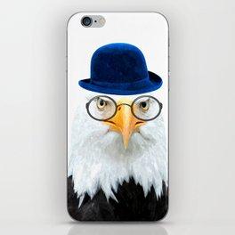 Funny Eagle Portrait iPhone Skin