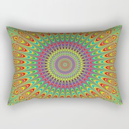 Happy Hippie Mandala Rectangular Pillow