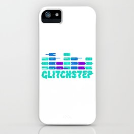 Glitchstep Dubstep Gift EDM Music Rave Equalizer Bars iPhone Case