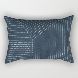 Lines (Annapolis Blue) Rectangular Pillow
