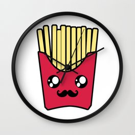 Kawaii French Fries Wall Clock