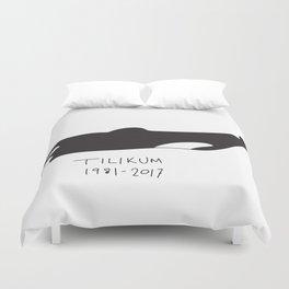 RIP Tilikum / Tilly the whale Duvet Cover