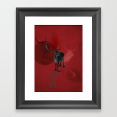 He's very natural Framed Art Print