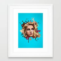 lana Framed Art Prints featuring Lana by Devis Pederzini