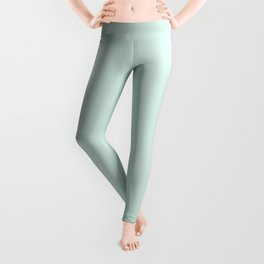 Light Pastel Mint Green Solid Color Inspired by Mint Whisper 5008-7A Leggings