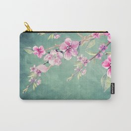 Vintage Garden (Peach Blossoms) Carry-All Pouch