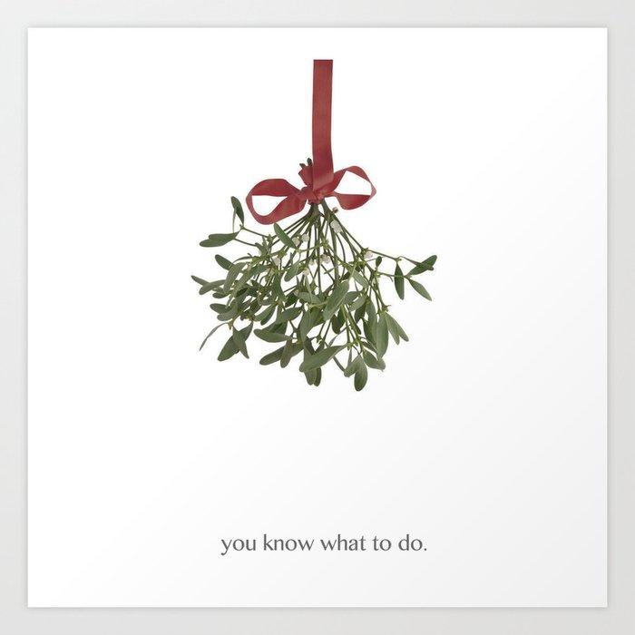 Mistletoe Art Print By Celeblegs Society6