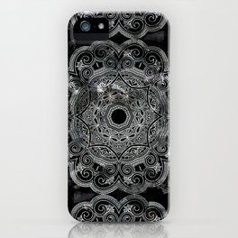 marble and ornaments iPhone Case