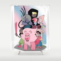 steven universe Shower Curtains featuring Steven Universe by Laura Pulido