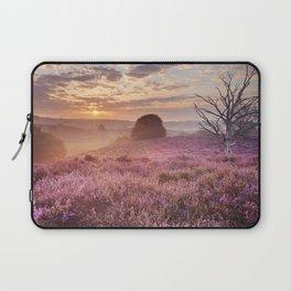 III - Blooming heather at sunrise, Posbank, The Netherlands Laptop Sleeve