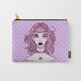 Lavendar Witch Watercolor Painting Carry-All Pouch