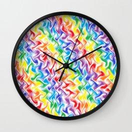 A Messy Rainbow   Wall Clock