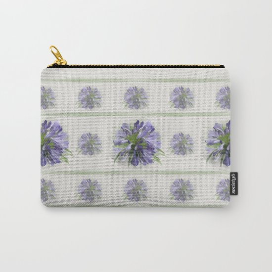 Blue purple flowers Carry-All Pouch