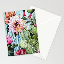 Watercolor Flowers Art Work Stationery Cards