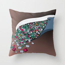 Food poison Throw Pillow