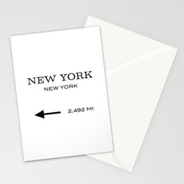 This Way To New York Typography Stationery Cards