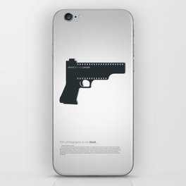 Shoot film not people iPhone Skin