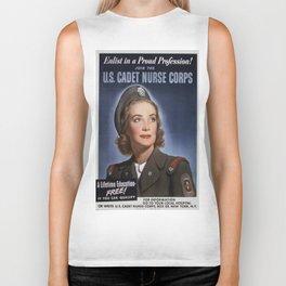 Vintage poster - U.S. Cadet Nurse Corps Biker Tank