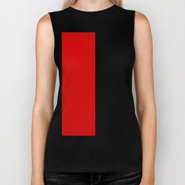 Psychedelic black and red stripes VII. Biker Tank