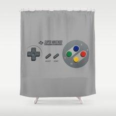 Classic Nintendo Controller Shower Curtain