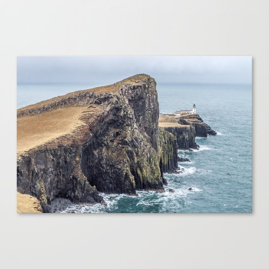 Lighthouse rock ocean Canvas Print