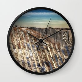 Winter Scape - Jones Beach Wall Clock