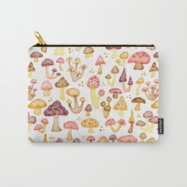 Myriad of Mushrooms - white Carry-All Pouch