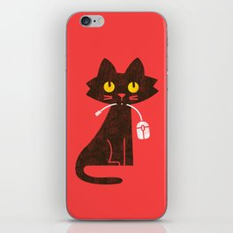 Fitz - Hungry hungry cat (and unfortunate mouse) iPhone Skin
