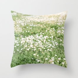 Field of Daisies 03 Throw Pillow