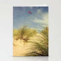 dune Stationery Cards featuring dune & kite by Dirk Wuestenhagen Imagery
