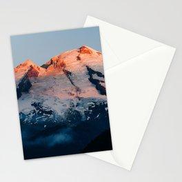 Last Light on Mount Baker Stationery Cards
