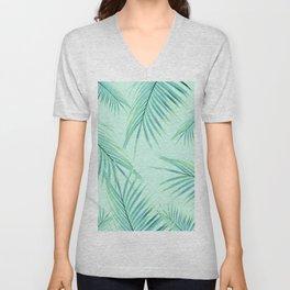 Summer Palm Leaves Dream #1 #tropical #decor #art #society6 Unisex V-Neck