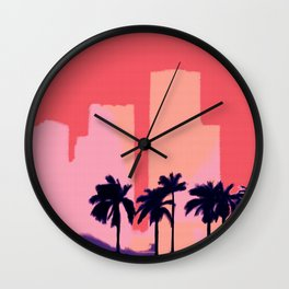 Sunset Time in Miami Wall Clock