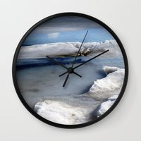 tote bag Wall Clocks featuring Ice Abstract (Tote Bag) by Friederike Alexander