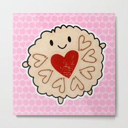 Jammie Dodger Watercolour Metal Print