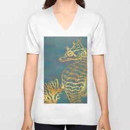 Deep Sea Life Seahorse Unisex V-Neck