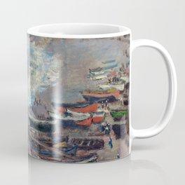 Boats on the Beach at Etretat by Claude Monet Coffee Mug