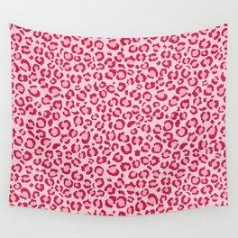 Raspberry Pink Leopard Print - Fun bright Girly Wall Tapestry