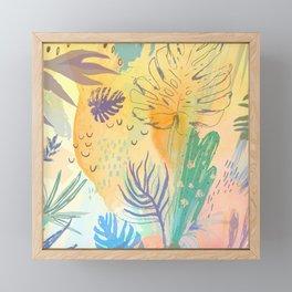 Desert Sun Pattern Framed Mini Art Print