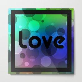 Love Bubbles Letters II Metal Print