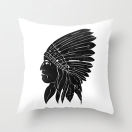 Indian Chief / Black Edition Throw Pillow