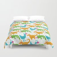 monsters Duvet Covers featuring monsters by LOLIA-LOVA