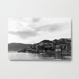 Spanish Sea Landscape bw Metal Print