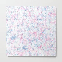 Blue and pink dots Metal Print