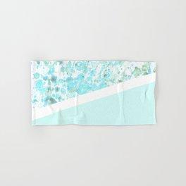 Aqua Splatter - Diagonal Hand & Bath Towel